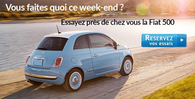 Essayez la Fiat 500 gratuitement près de chez vous
